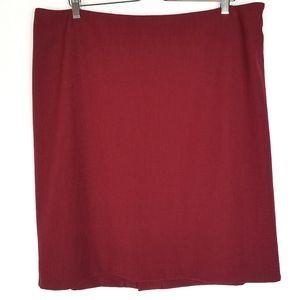 MM Lafleur Noho Skirt Pomegranate Red Pencil +1 1X